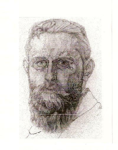 1912-1914    (Zelfportret)  Ds.J.Nieweg